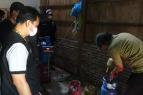 Polres Grobogan Gerebeg Gudang Pengoplos Gas Elpiji