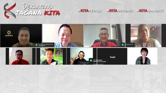 Sebanyak 1.018 komunitas di Indonesia Timur mendeklarasikan program Tagana KITA secara daring, Senin (3/5/2021). (Istimewa)