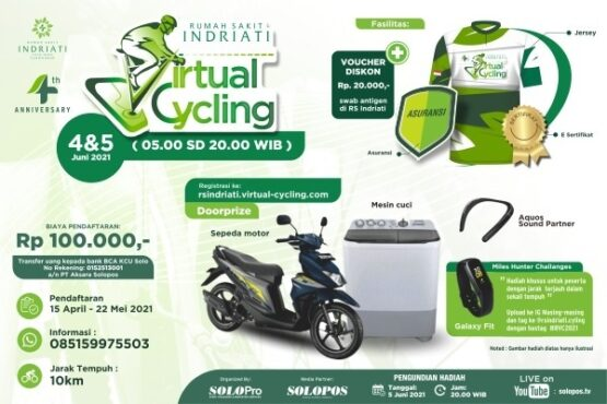 RS Indriati Gelar Virtual Cycling 2021, Ikutan Yuk...