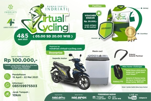 RS Indriati Gelar Virtual Cycling 2021, Ikutan Yuk...