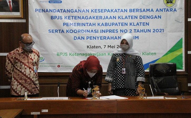 3 Ahli Waris Peserta BPJS Ketenagakerjaan di Klaten Terima Santunan Puluhan Juta hingga Miliaran Rupiah