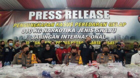 Bravo! Polres Jakarta Pusat Ungkap 310 Kg Sabu Asal Iran