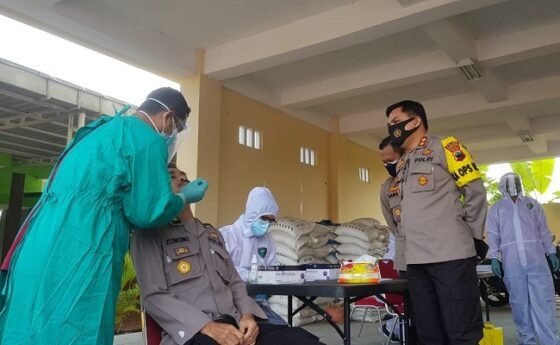 Tak Ingin Kecolongan, 292 Anggota Polres Grobogan Jalani Swab Antigen