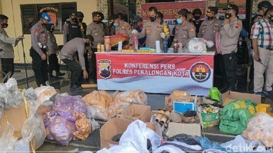 161 Balon Udara dan 550 Petasan di Pekalongan Disita Polisi
