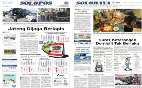 Koran Solopos edisi Rabu (5/5/2021).