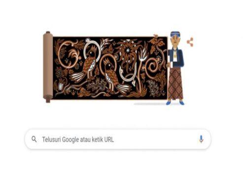 Google Doodle ulang tahun ke-90 pelopor batik Indonesia, Go Tik Swan. (Google)
