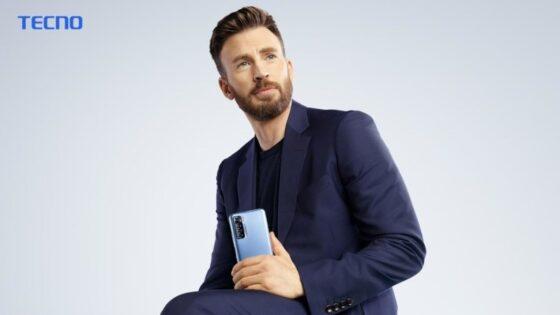 Tecno Tunjuk Chris Evans Jadi Brand Ambassador Global