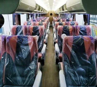Interior Bus Tingkat PO Rosalia Indah. (Instagram @adiputro_official)