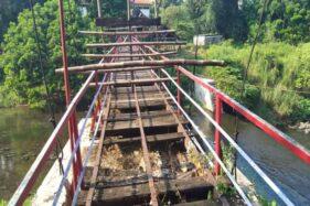 Ditutup Selama Pandemi, Jembatan Gantung di Mata Air Cokro Ini Jadi Menyeramkan