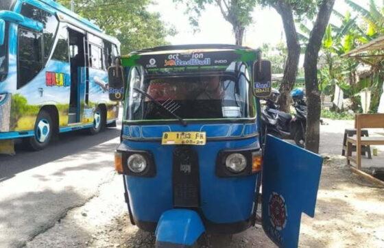 Rindu Lebaran di Kampung Halaman, Warga Boyolali Nekat Mudik Pakai Bajaj