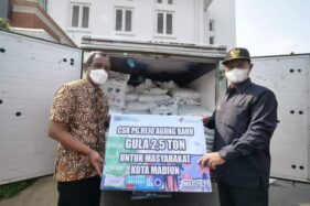 PG Rejo Agung Serahkan Bantuan 2,5 Ton Gula untuk Masyarakat Madiun