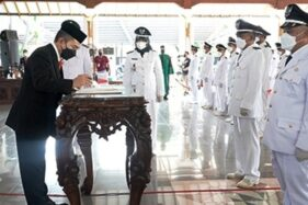 Pelantikan 215 Kades Baru di Pati Terapkan Prokes Ketat