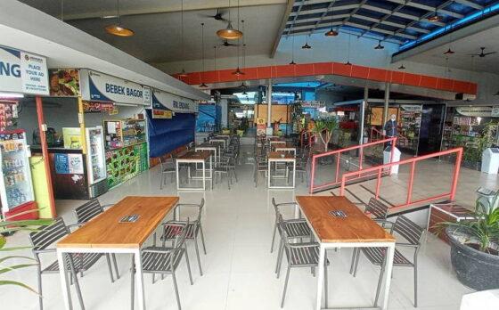 Suasana sepi terlihat di Rest Area 519A di Masaran, Sragen, pada H-1 Lebaran, Rabu (12/5/2021). (Solopos.com/Moh. Khodiq Duhri)