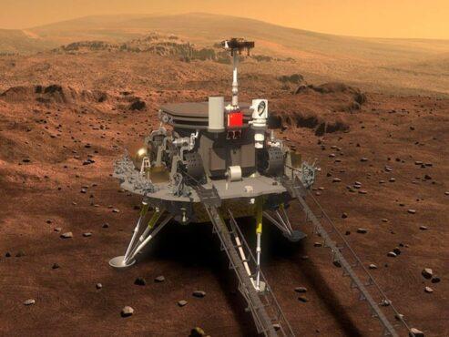 Tiongkok Mulai Penjelajahan Zhurong di Planet Mars
