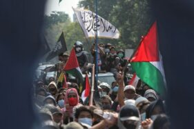 Polisi Sebut Aksi Solidaritas Palestina Di Solo Langgar Prokes dan Bernada Mengancam
