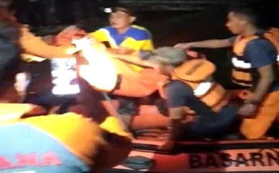 Petugas gabungan kembali menemukan korban perahu terbalik di Kedungombo, Kecamatan Kemusu, Kabupaten Boyolali, Minggu (16/5/2021) malam.(Istimewa)