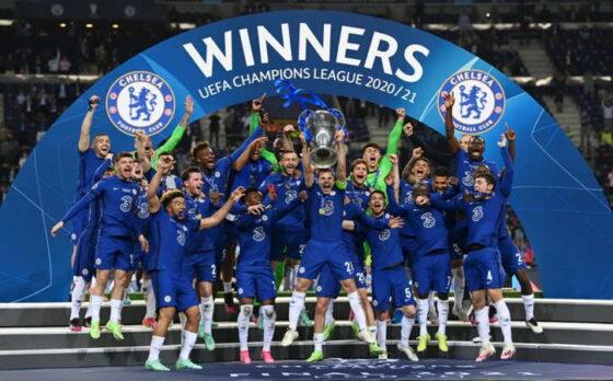 Chelsea menjuarai Liga Champions 2020/21 seusai mengalahkan Manchester City 1-0 dalam partai final di Stadion Dragao, Porto, Portugal, Sabtu (29/5/2021) waktu setempat atau Minggu (30/5/2021) WIB. (Istimewa/Twitter)