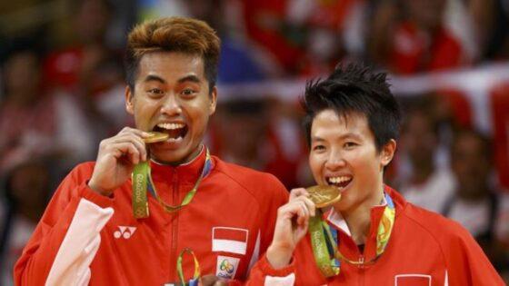 Tontowi Ahmad dan Liliyana Natsir, wakil Indonesia peraih meraih emas Olimpiade 2016. (Reuters/Mike Blake)