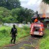 Kebakaran Hanguskan Gudang Reklame di Manahan Solo