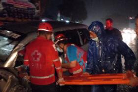 Laka Adu Banteng Di Sambungmacan Sragen, Polisi: Pengemudi Mazda Dalam Pengaruh Obat!