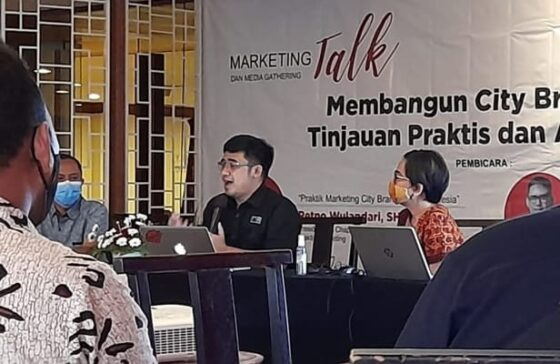Marketing Talk membahas city branding, Selasa (11/5/2021). (Damar Sri Prakoso)