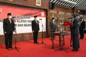 Setahun Proses Seleksi, 3 Jabatan Eselon II Pemkab Klaten Akhirnya Terisi