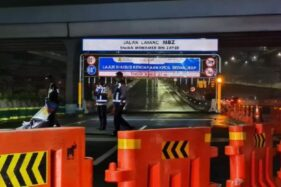 Larangan Mudik Dimulai, Jalan Tol Layang MBZ Ditutup