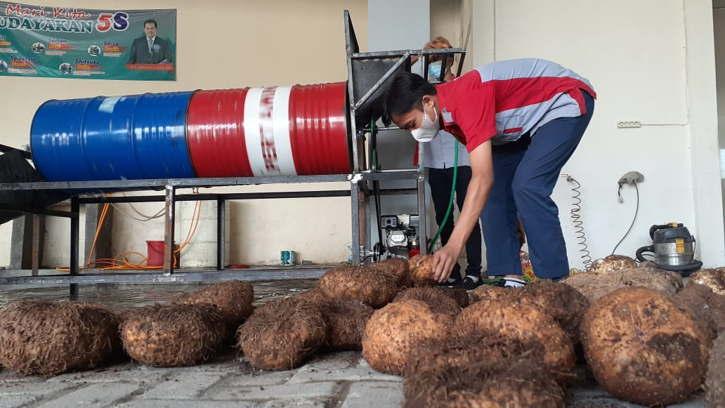Keren! SMK di Madiun Olah Umbi Porang Jadi 47 Produk Turunan Anti Gatal