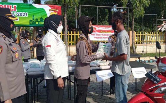 Polres Sragen Salurkan 1.124 Paket Zakat Fitrah untuk Warga