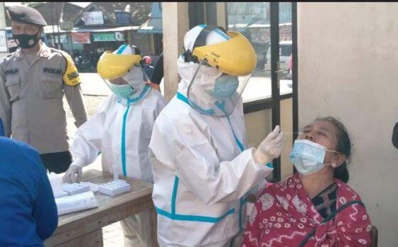 Jelang Prepegan, Tak Pakai Masker di Pasar Beturetno Wonogiri Langsung DI-Swab