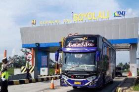 3 Bus di Exit Tol Boyolali Diputar Balik: Tujuan Wonogiri & Solo