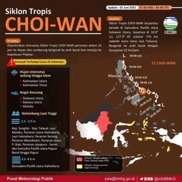 Awas Gelombang Tinggi Imbas Siklon Tropis Choi Wan di Perairan Jatim