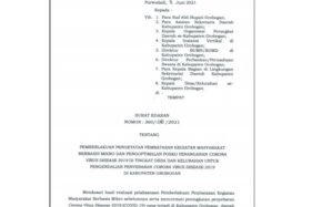 Grobogan Zona Merah, Bupati Kembali Terbitkan SE PPKM Mikro