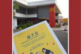 Rela Antre BTS Meal McD, Army BTS Sumbang Ojol Makanan