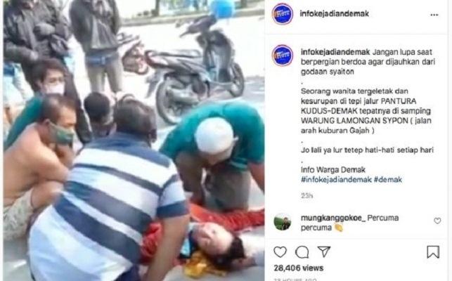 Wanita Ini Kesurupan Nyanyi Lingsir Wengi, Warganet Berkomentar Kocak