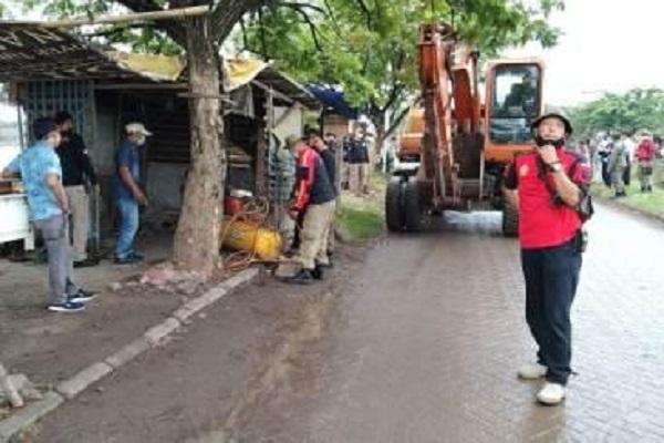 14 Bangunan Milik Pedagang di Lahan MAJT Dirobohkan