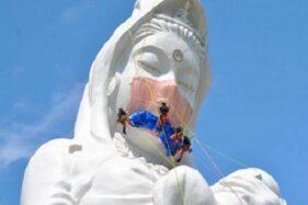Cerita Patung Dewi Buddha di Jepang Dipakaikan Masker, Ini Harapannya