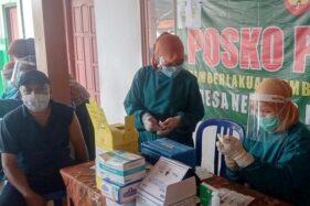 Jemput Bola Vaksinasi di Sukodono , Animo Warga Menggembirakan