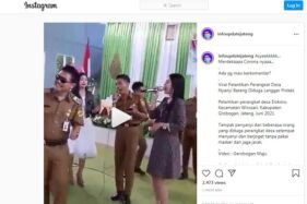 Video Viral Perangkat Desa Dokoro Grobogan Joget Tanpa Prokes