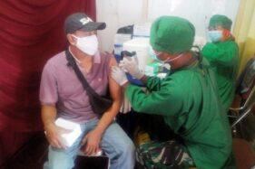 Dukung Percepatan Vaksinasi, Kodim 0731 Kulonprogo Datangi Pasar