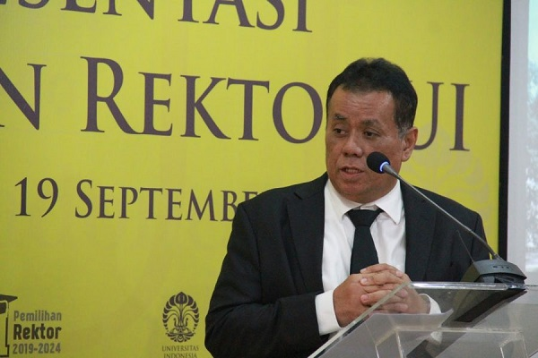 Rektor Universitas Indonesia Prof. Ari Kuncoro. (Ui.ac.id)
