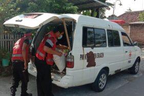 Miris, Ambulans PMI Sragen Sudah Keropos dan Gunakan Shock Bagasi Kayu