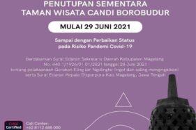 Taman Wisata Candi Borobudur Tutup Sementara Mulai Hari Ini