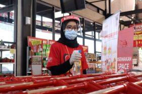 Terapkan Prokes Ketat, Super Indo Seturan Jogja Siap Layani Pelanggan Lagi