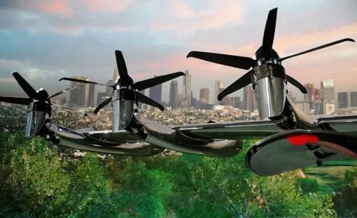 aksi terbang dari perusahaan Archer Aviation. (Antara/Reuters)