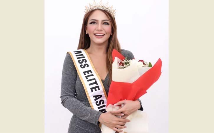 Selamat! Pramugari Cantik Asal Solo Anna Silvia Raih Juara Miss Elite Asia 2021