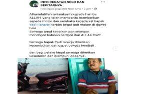 Round Up Driver Ojol Korban Begal di Sukoharjo: Dapat Motor Baru, Sembako, & Sumbangan Rp130 Juta