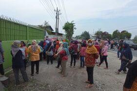 CV GSP Sragen Resmi Ditutup, Ratusan Buruh Tuntut Pesangon