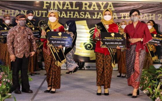 Selamat, Asyif dan Zalfaa Terpilih Jadi Duta Bahasa Jawa Tengah 2021