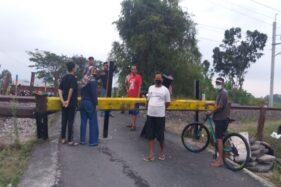 Perlintasan KA Tempat Petani Prambanan Klaten Tertabrak KRL Langsung Ditutup Permanen, Warga Protes